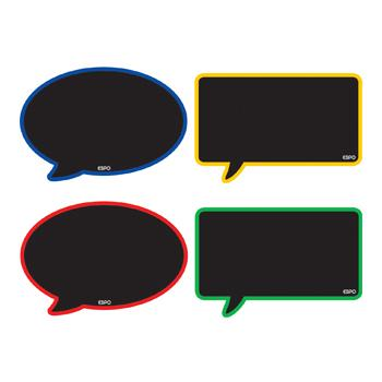 Speech Bubbles Chalkboards, Set of 4