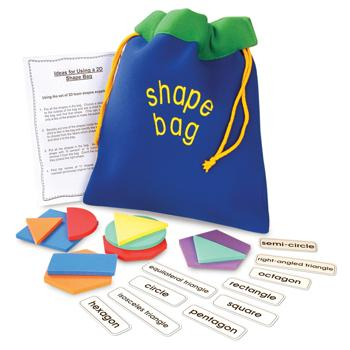 Shape Sets, 2D Shape Bag, Age 3+, Set