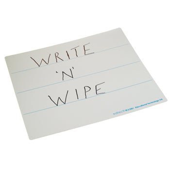 Write 'N' Wipe Boards, 3 Lines - Flexible, 280 x 235mm, Pack of 30