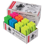 Highlighters, Stabilo Boss Original, Pack of 48, Big Boss Storepack, 5 Assorted Colours, Pack of 48