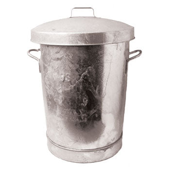 Dustbin, Galvanised, 70 litre, Galvanised Lid, Each