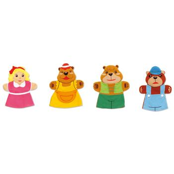 Glove Puppets, Goldilocks & The Three Bears, Set of 4
