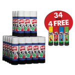 Glue Sticks, Pritt Stick, Large, Class Pack, Pack of 34 x 43G Sticks