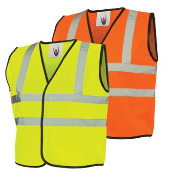 Children's Hi Vis Waistcoats, Orange, Each