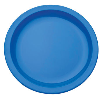 Polycarbonate Ware, Anti-Bacterial, Plate, Narrow Rim, Blue, 230mm diameter, Each