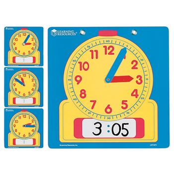 Time, Classroom, Write On/Wipe Off Clock Pack, Set