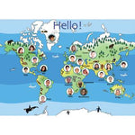 Poster, Hello From Around The World, Each