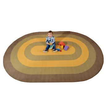 Learning Rugs, Economy Pile Rugs, Oval Runway, 3000 x 2000mm, Each