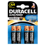 Batteries, Duracell, Ultra M3, MN1500, 1.5 volts AA, Pack of 4