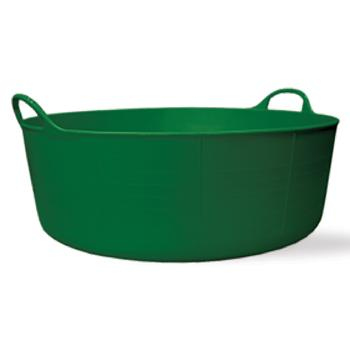 Red Gorilla Tubs, 15 litre - Small Shallow, Green Tub, Each