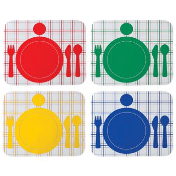 Colour Coded Place Mats, Age 1+, Set of 4