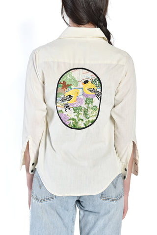 Oiseau 70s Embroidered Goldfinch Shirt