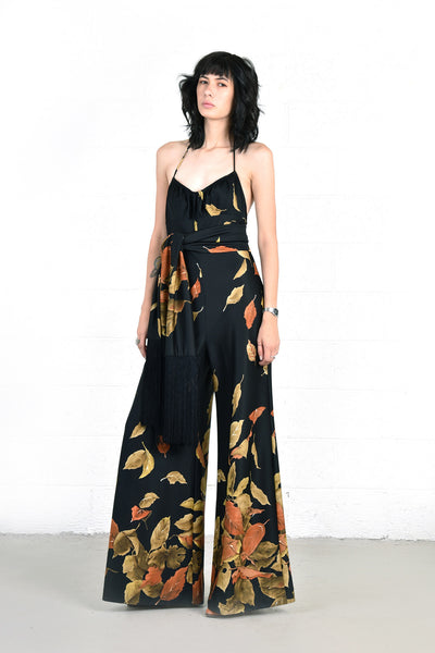 Gusty Falling Leaves Jumpsuit & Scarf
