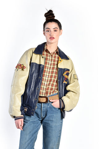 Molina Sioux Chiefs Leather Baseball Jacket