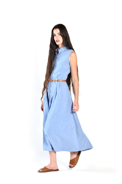 Saléne Chambray Maxi Dress