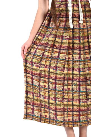 Chasette Graphic Silk Skirt