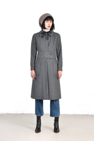 Christian Dior New York 1960s Grey Wool Coat