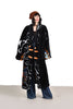 Mammoth Faux Fur Maxi Coat w/Dragon Motif