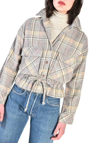 Gigi 70s Cinched Plaid Jacket