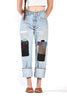 Dinah Leather Patchwork Levi's 501 Jeans