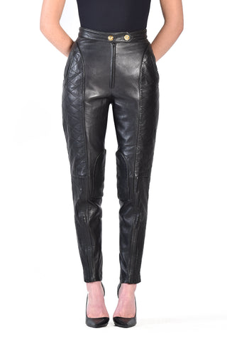 Moschino Quilted Leather Pants