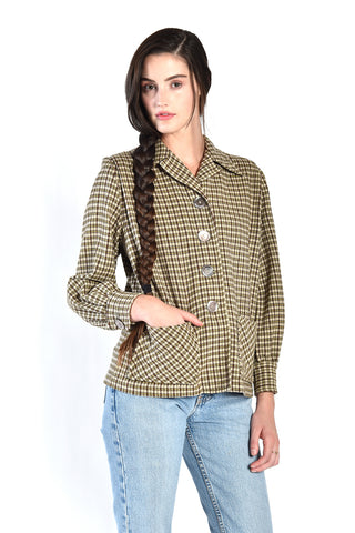 Pendleton 1940s Cropped Wool Jacket
