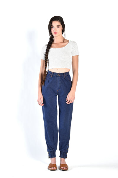 Lisa High Waisted Snap Cuff Jeans