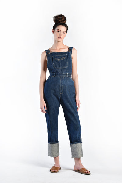 Gina Reach for the Stars Studded Denim Overalls