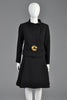 Pierre Cardin Vintage 1960s Wool Suit With Gold Brooch