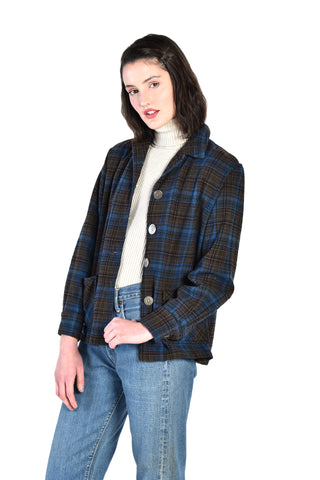 Romy 1950s Western Star Plaid Wool Jacket