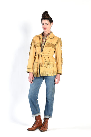 1950s WB Place Deerskin Fringed Leather Jacket