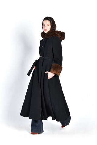 Calvin Klein Fur Trimmed Russian Hooded Coat