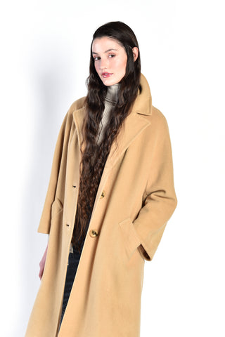 Fawna 1960s Camel Colored Cashmere Coat