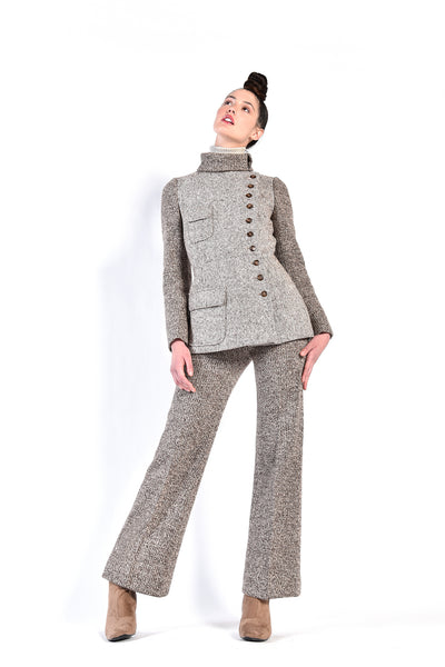 Pierre D'alby 1960s Knit Wool + Tweed Ensemble