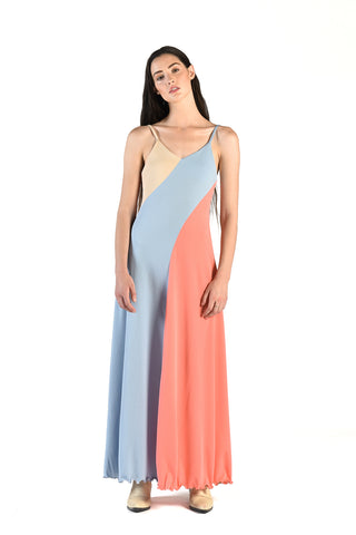 Elisabetta 70s Colorblock Maxi Dress