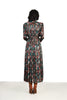 Laura 1970s Graphic Print Silky Maxi Dress