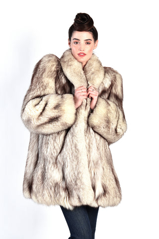 Adalina Arctic Fox Fur Coat