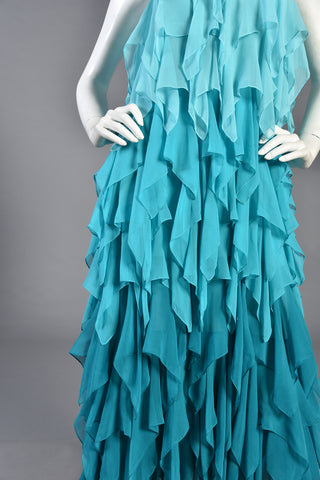 Tilda Silk Chiffon Ombre Petal Dress