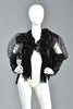 Lanie Draped Petal Jacket w/ Sequins & Mesh Sleeves