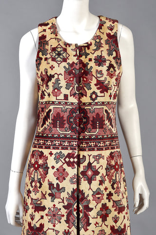 Iconic 1960s Anne Klein Tapestry Vest