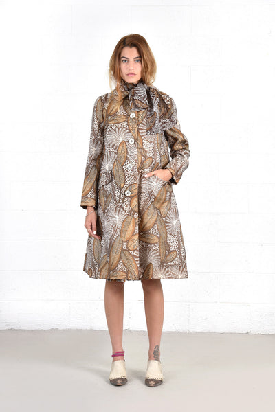 Bill Blass Autumnal Silk 4pc Skirt Suit