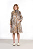 Vintage Bill Blass 1960s Autumnal Floral Coat and Skirt Ensemble