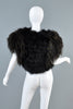 Bill Tice Vintage 1970s Metallic Ostrich Feather Bolero Jacket