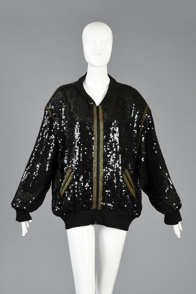 Indian Chief Sequined Bomber Jacket