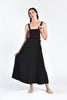 Liz Backless Black Apron Dress