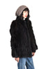 Claudia Shaggy Black Fox Fur Coat