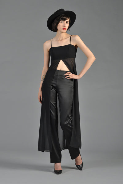 1990s 2-Piece Crop Top + Trouser Ensemble