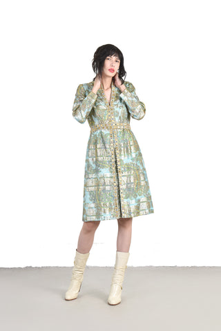 Majesty 1960s 2 Piece Brocade Ensemble