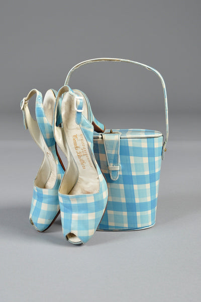 Hand Painted Picnic Box Purse + Peep Toes
