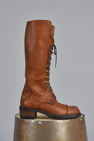 Joan & David Couture Ultimate Leather Logger Boots 6 7